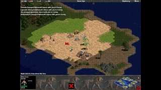 Babylon vs 7 Hardest. Random map. Small Islands. Part 1 - Survival. Age of Empires.