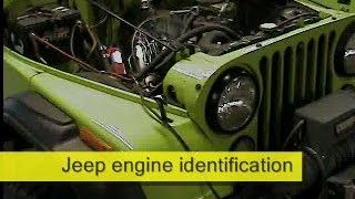 Jeep CJ7 engine and transmission identification