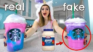 People Try the Starbucks Unicorn Frappucino PRANK