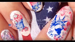 🗽🎆🇺🇸 4th of July Nailart Collab - Happy 4th of July! 🗽🎆🇺🇸