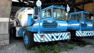 Former Certified Concrete polka dot Crane Carrier concrete trucks in Brooklyn, NY
