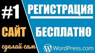 Создание сайта, блога бесплатно и быстро на WordPress.com #1