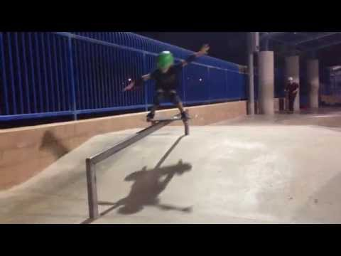 Skyler tries the down rail