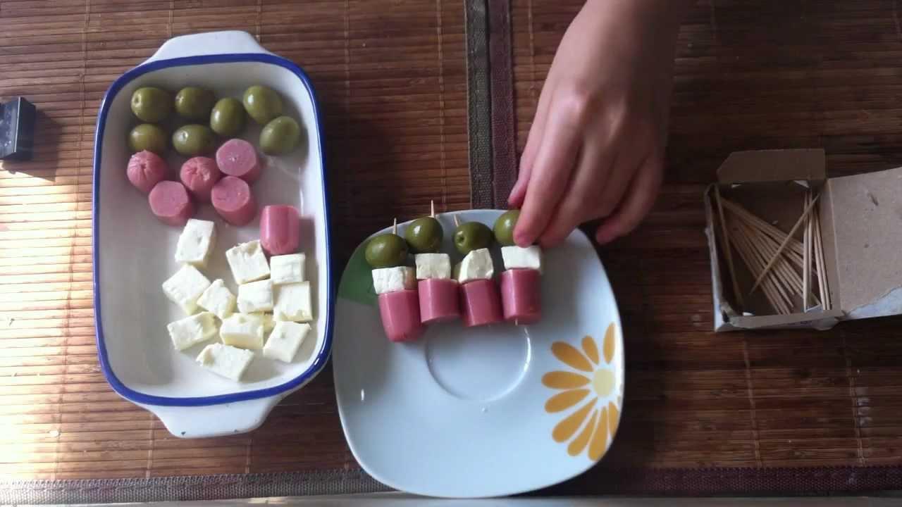 Bocadillos para fiestas pinchos de aperitivo youtube - Platos rapidos y sencillos ...