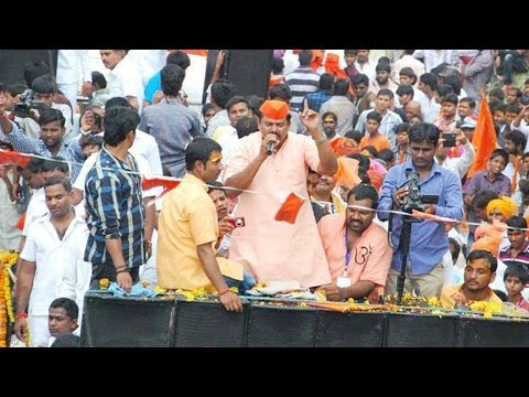 Raja Singh Bold Speech At Sri Rama Navami Shoba Yatra 2014 At Hyderabad