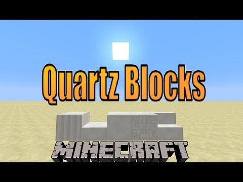 How To Make The Quartz Blocks 1.7.9 | Minecraft Tutorial