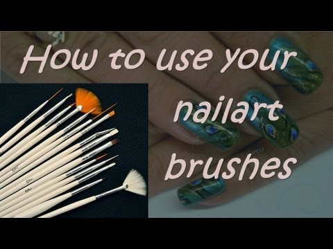 How to use your nailart brushes (BPS review) - YouTube
