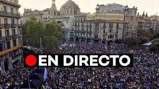 EN DIRECTO: Concentración independentista un año después del 20-S en Catalunya