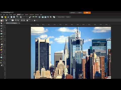 Tutorial: PaintShop Pro X5 Workspace Tour - Edit photos