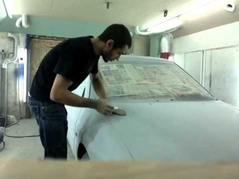 Покраска авто металликом своими руками в гараже 61