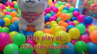 Kids Play At Play Square Different Games