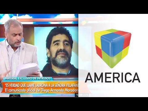 """Maradona: """"Es verdad que llamé ladrona a la señora Villafañe"""""""