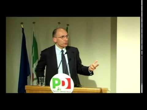 Direzione nazionale Pd – Intervento di Enrico Letta