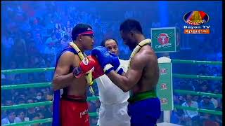 Cambodia Boxing  Von Viva Vs Swedish Boxer  Bayon Boxing2019