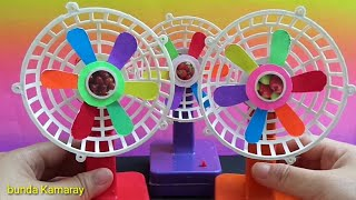 Colorful mini fan without front protective mesh