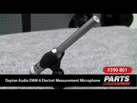 Dayton Audio EMM-6 Electret Measurement Microphone
