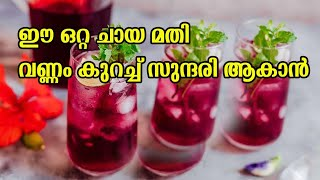 Hibiscus tea | How to make Hibiscus tea | weight loss | ചെമ്പരത്തി ചായ | Best tea for heath |