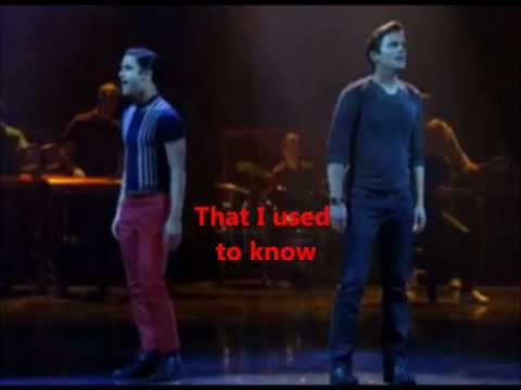Somebody That I Used To Know- Glee Cast ( Blaine and Cooper) with lyrics