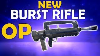 NEW BURST RIFLE IS OP |  SLAYING WITH THE RIFLE | FUNNY HIGH KILL GAME - (Fortnite Battle Royale)
