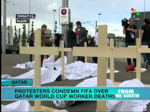 Qatar: Protesters Condemn FIVA for World Cup Worker Deaths