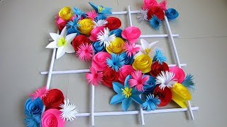 DIY. Simple Home Decor. Wall Decoration 18. Hanging Flower. Paper Craft Ideas