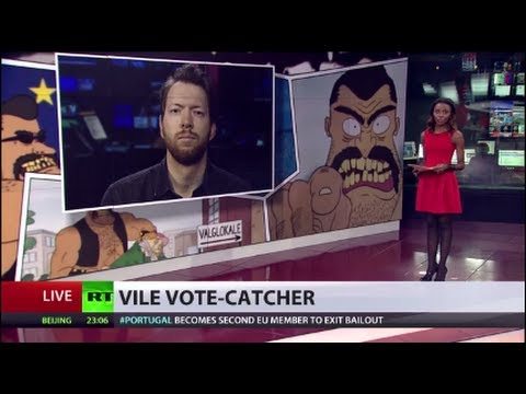 'Voteman cartoon a way to get youth out for EU elections' - Danish director