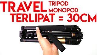 Travel Tripod Monopod 2in1 Hanya 30cm | Review Beike Q555