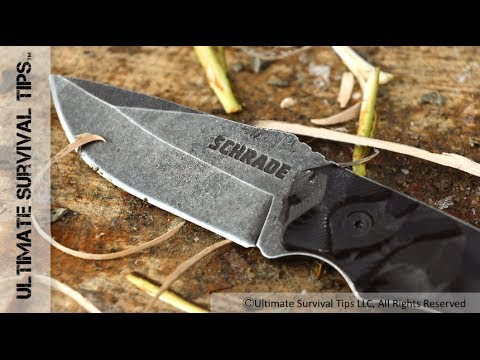 Covert EDC Survival Knife from Schrade - Review - Best new $30 Survival Knife?