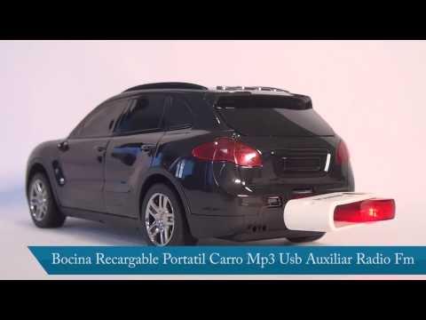 Carro Bocina  Portatil Mp3 Usb Auxiliar Radio Fm disponible en Omar Angulo