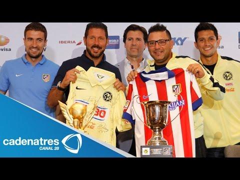 Listo el Atlético de Madrid para enfrentar al América; a Simeone le agrada El Chicharito Hernández