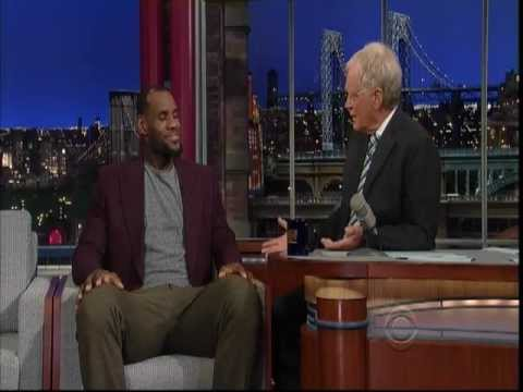 June 26, 2012 - CBS - LeBron James talks about 2012 Miami Heat Championship on David Letterman