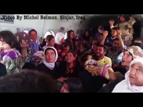 Rescue of Yazidis Mount Sinjar Video by Michel Reimon, Sinjar Iraq,