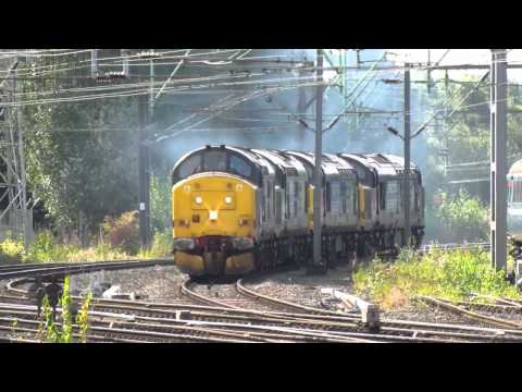 Saturday 15 September 2012. A sunny morning session at Crewe Station dominated by heritage traction. Best viewed in 720p HD. Locos... 37194 37259 37607 37608...