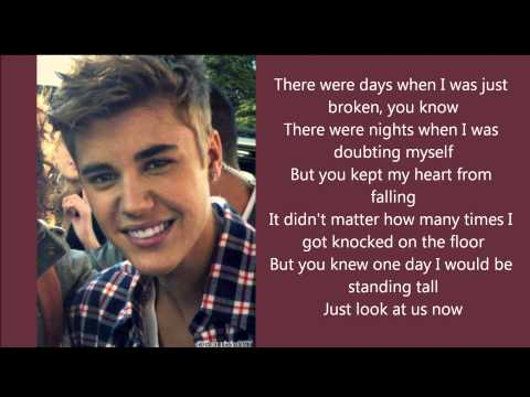 Justin Bieber - Believe (lyrics) video