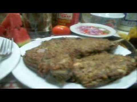 """TORTANG TALONG"" (grilled eggplant omelet with minced beef)"