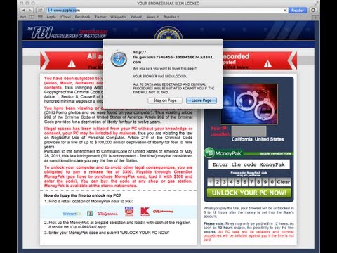 How to remove FBI Moneypak Virus (FBI Ransomware) from Mac Os X.