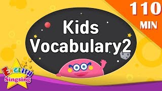 Kids vocabulary 2 compilation - Animation Words collection (ABC first Dictionary)|English  for kids