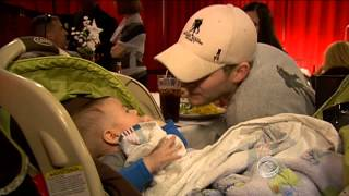 For wounded vets, a dinner out helps the healing process