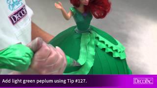 How-To Decorate Ariel Disney Princess Doll Signature Cake DecoSet