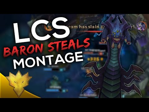Best LCS Baron Steals of 2016 - League of Legends Montage