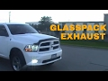 2012 Ram Hemi 5.7 glasspack exhaust (race at end) HD