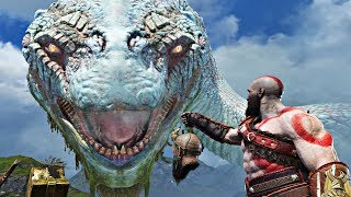 God of War 4 - ALL World Serpent GIANT SNAKE Cutscenes (God of War 2018) PS4 Pro