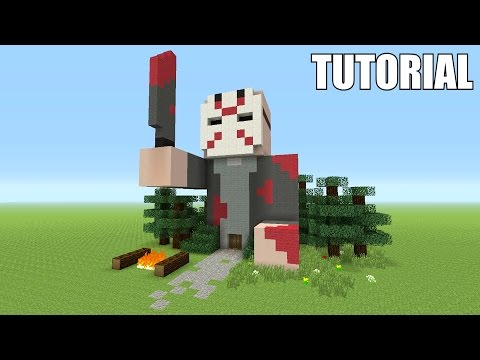 Minecraft Tutorial: How To Make A Jason Voorhees Friday The 13th!! (Survival House)