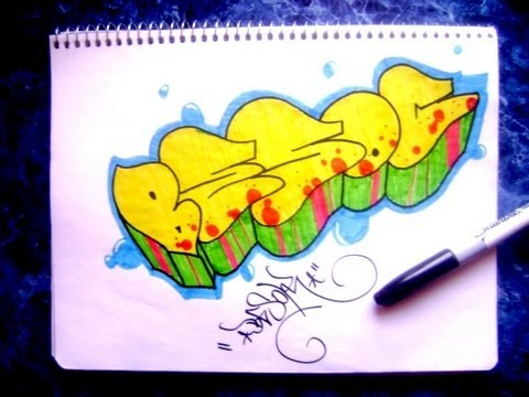 Como Decorar Un Graffiti En Papel