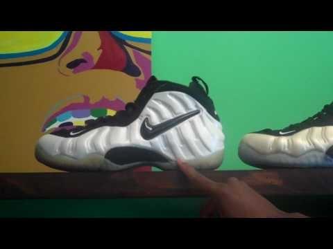 Nike Foamposite Pro Pearl 1997 vs 2010 by Sneaker Dave