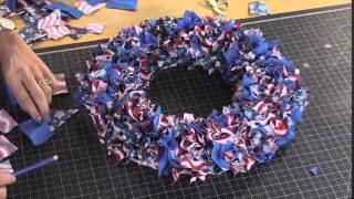 No Sew July 4th wreath by Debbie Shore