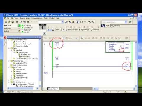 PLC RSLogix 5000 Basico (Contadores CTU, CTD, RES) Parte 8 de 8