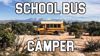 School Bus Conversion In 11 Days | Tiny House on Wheels [4K]