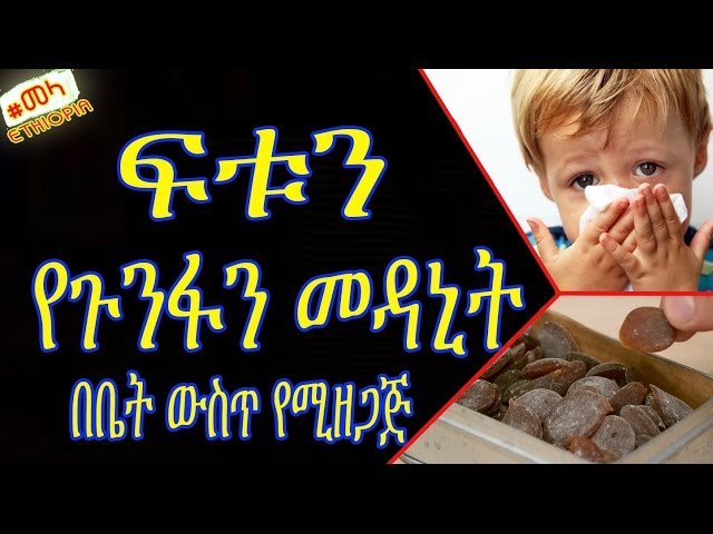 ETHIOPIA -  Natural Recipes for Cold & Flu in Amharic