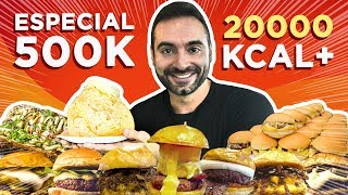 Epic 20,000 Calorie cheat day!! (4 challenges, free food!) [500k special]
